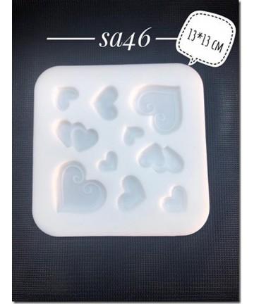 Silikonski kalup-srca SA46