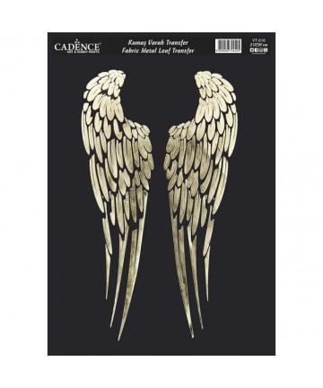 Transfer zlatni- krila 21*30cm