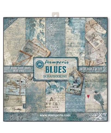 Scrap blok- BLUE 10 listova