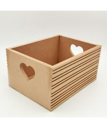Gajbica srce- 20x15x10cm