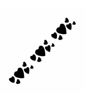 Šablon K32 - 6*20cm srce
