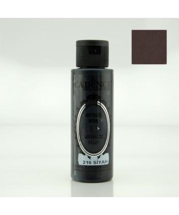 Metalik boja 70ml - Crna 216