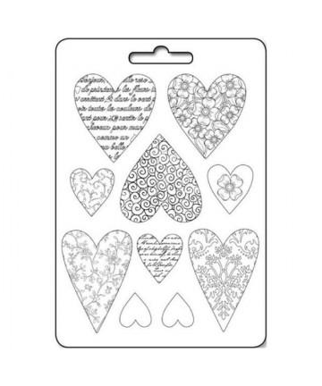 Kalup - Textured hearts...