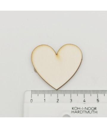 Drvena dekoracija srce - manje