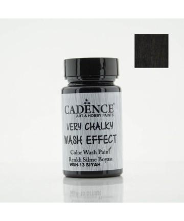 Black color wash paint