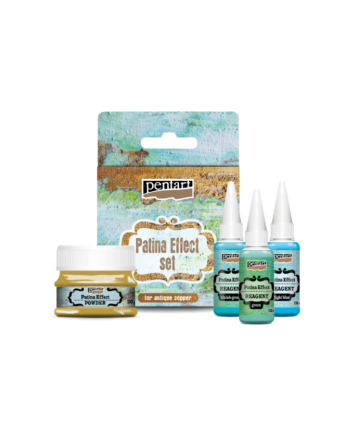Paint set for patina effect